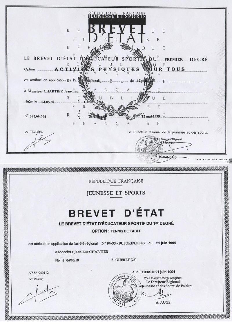 Diplomes Chartier Jjean-Luc